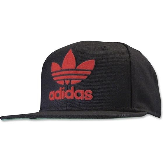 ... netherlands adidas originals trefoil chain snapback in black red as  seen on david beckham e4eec 7eec0 80fdae1f13b