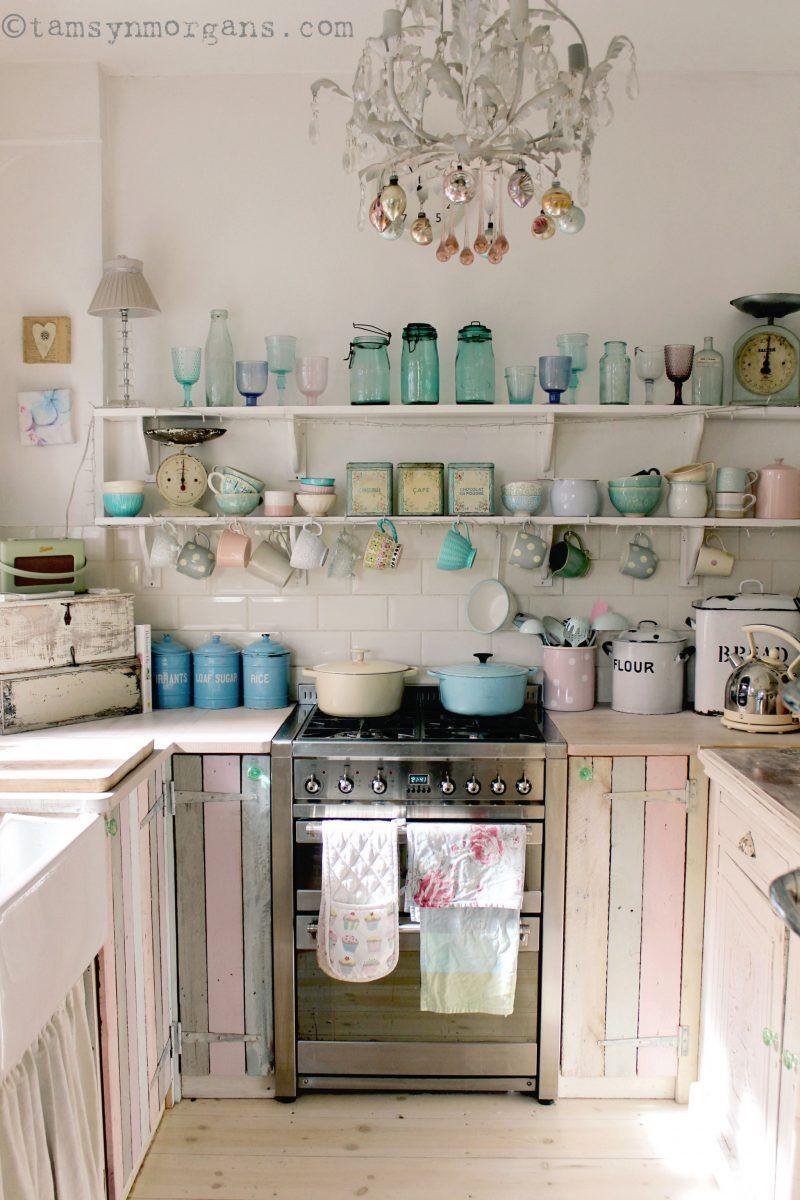 Küche Shabby Spring Sunshine In My Kitchen Free Standing Kitchens Pinterest