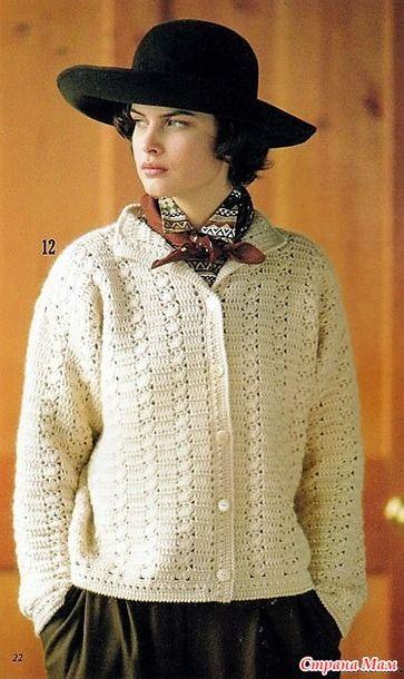 теплая кофта крючком вязаные женские кофточки и туники свитера