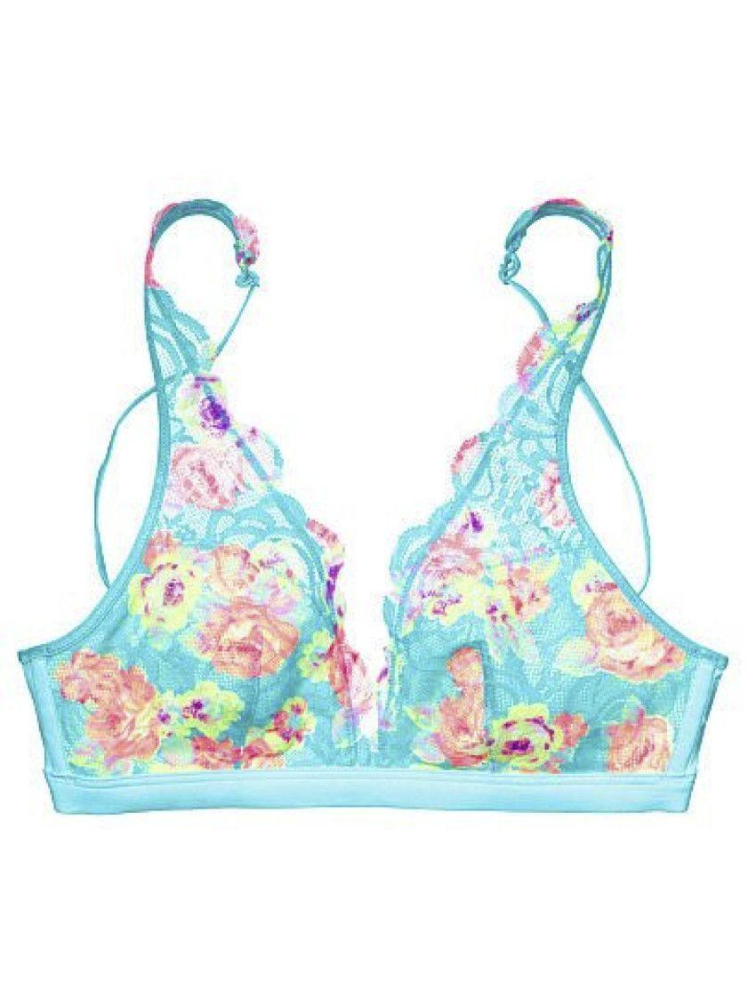 3d89dd83dc9 Victoria s Secret PINK Lace Plunge Bra Bralette