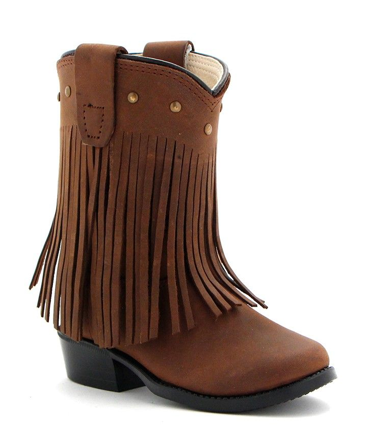NEW Cowgirl Ankle Fringe Boots Size 2 3 4 5 6 Cowboy Western Baby Toddler Girls
