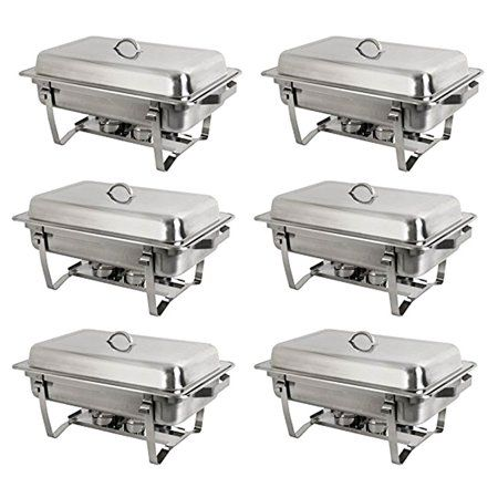 Upgraded Stainless Steel Chafer Full Size 9 5 Qt Chafer Chafing