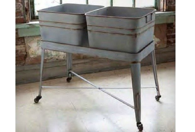 Vintage Inspired Double Tubs Laundry Basket From Antiquefarmhouse Com Http Www Antiquefarmhouse Com Cur Vintage Laundry Laundry Room Design Tubs For Sale