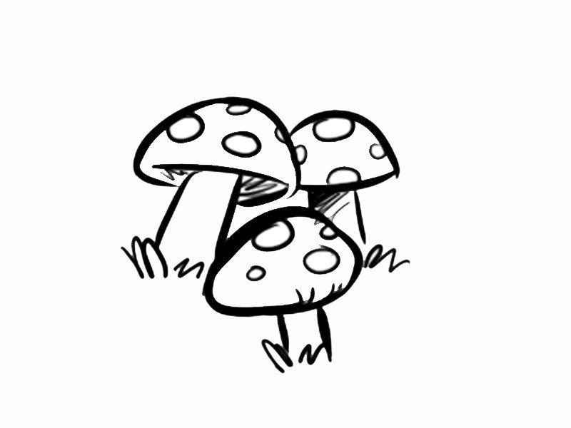 dibujos para colorear de setas hongos dibujos para imprimir de ...