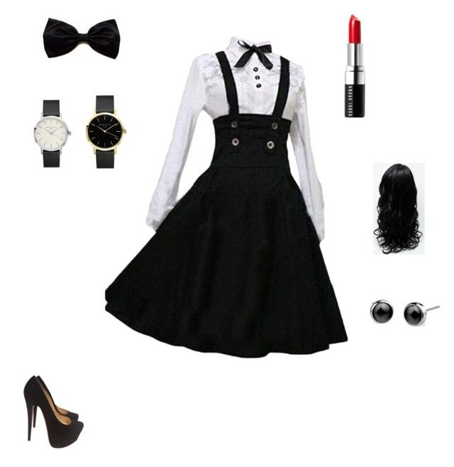 """""""anime look"""" by brittiney19 ❤ liked on Polyvore featuring Christian Louboutin and Bobbi Brown Cosmetics"""