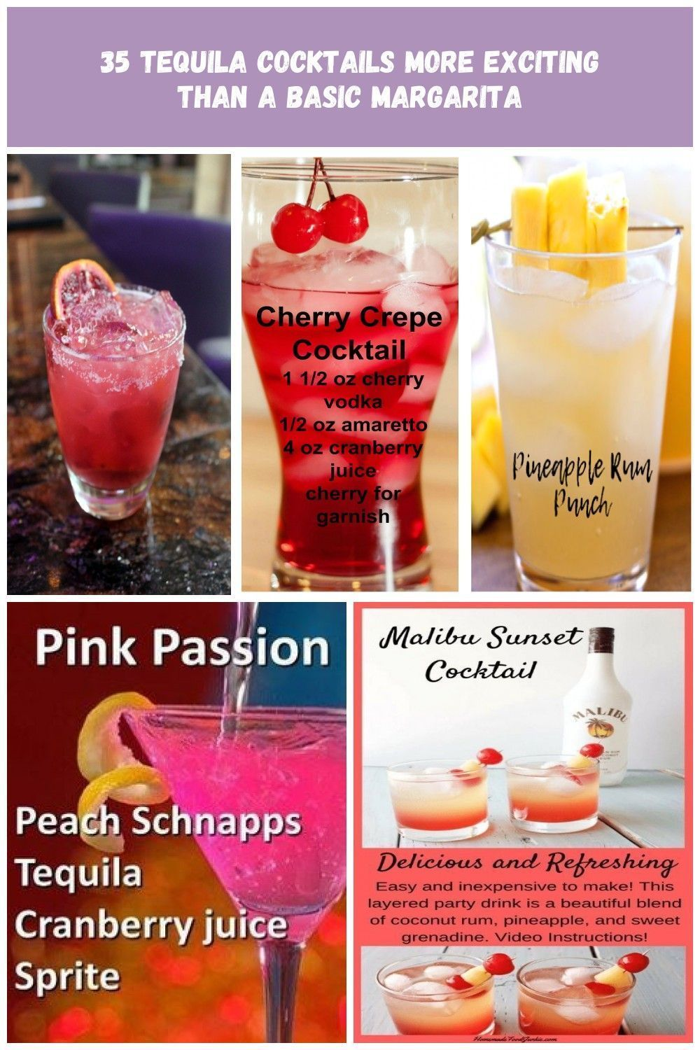 35 Best Tequila Cocktails 2018 Easy Simple Tequila Mix Drink Recipes Drink Re 35 Best Tequ In 2020 Mixed Drinks Recipes Tequila Cocktails Drinks Alcohol Recipes