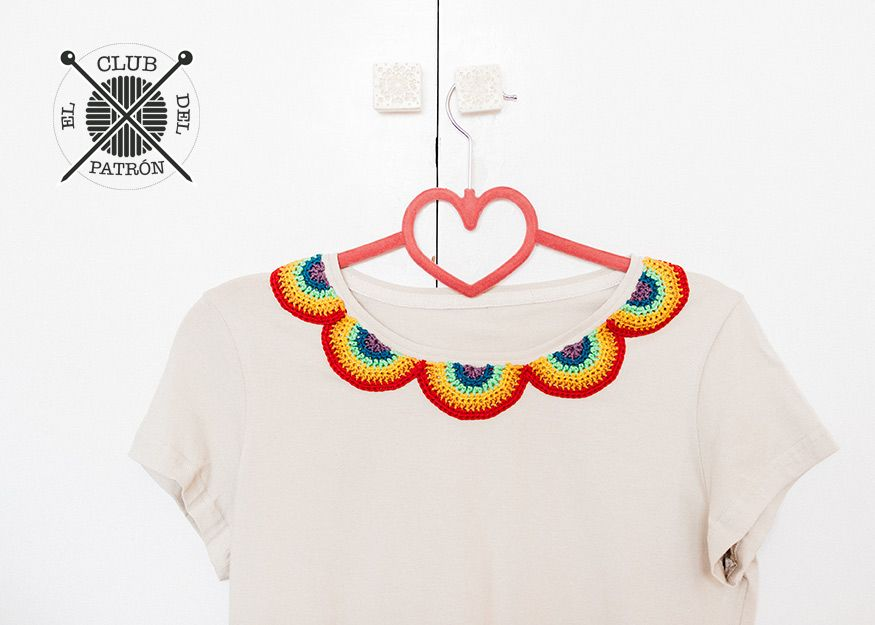 El Club del Patrón: cuello arco iris de ganchillo | cat crochet ...