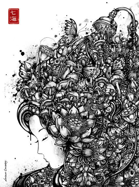 Pen and Ink Illustrations | but are given strength and depth ...