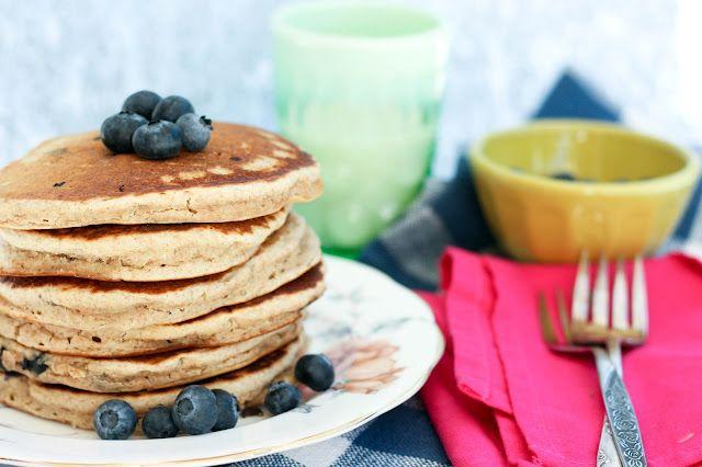 blueberry multigrain pancakes