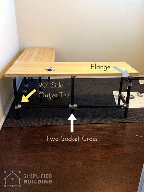 DIY Butcher Block Desk Home Improvement Pinterest Butcher