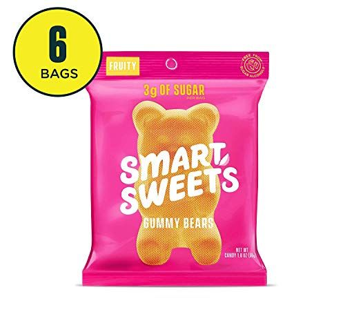 SmartSweets Low Sugar Gummy Bears Candy Fruity 1.8 Oz Bags (Box Of 6), Free of Sugar Alcoh...