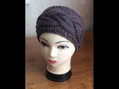 вязание повязки на голову с узором коса Youtube Knitting