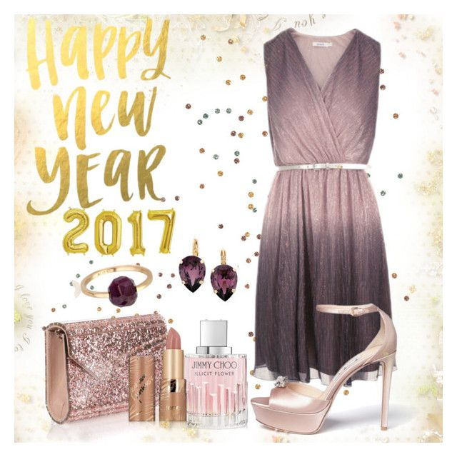 """""""New Year Wishes"""" by csidlo17 ❤ liked on Polyvore featuring Jimmy Choo, tarte, L. Erickson and Géraldine Valluet"""