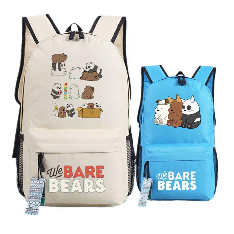 853a3b2454671e We Bare Bears Printing Backpacks for Teenage Girls Denim Cute Grizzly Panda Ice  Bear Canvas School Bag for Kids Boys Teenagers