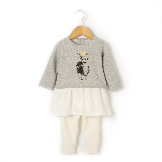 Conjunto com 2 peças, vestido e leggings, 0-36 meses R baby