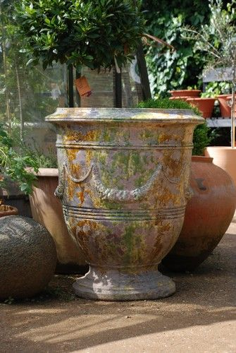 i adore these fabulous french 39 pots d 39 anduze 39 garden urn love the colors outdoor oases. Black Bedroom Furniture Sets. Home Design Ideas
