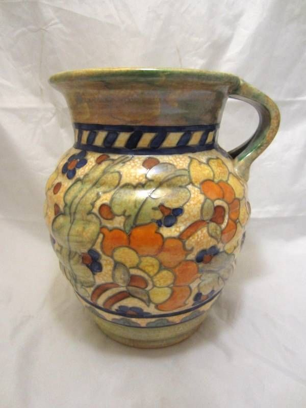 Crown Ducal Signed Charlotte Rhead Byzantine Art Deco Pottery Vase
