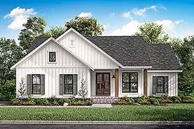Country Farmhouse Southern Traditional House Plan 51997