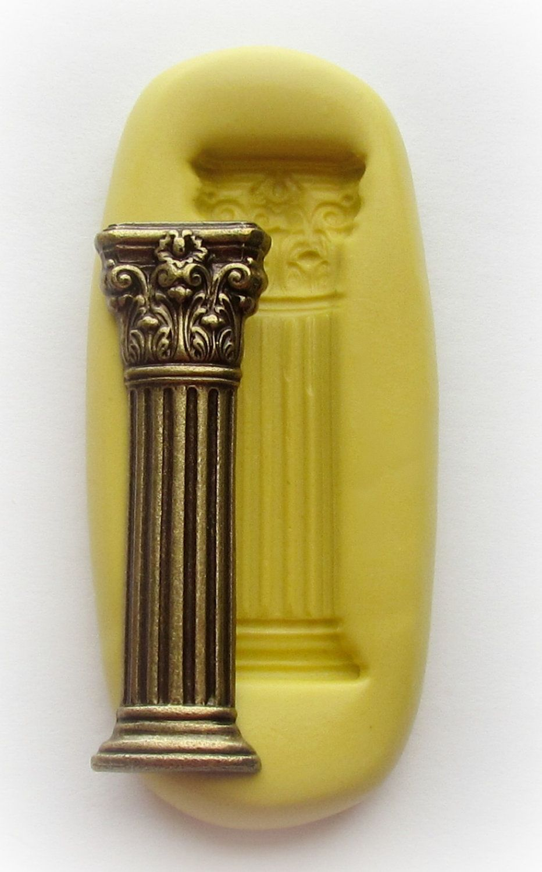 Fondant Mold Roman Pillar Column Mold Silicone Resin Clay ...