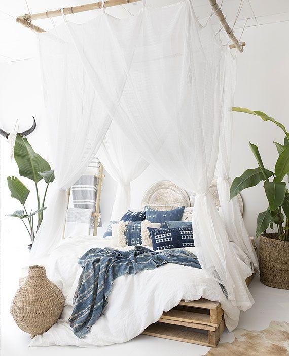 The Boho Bungalow | Safari Mosquito Net (Queen   White)