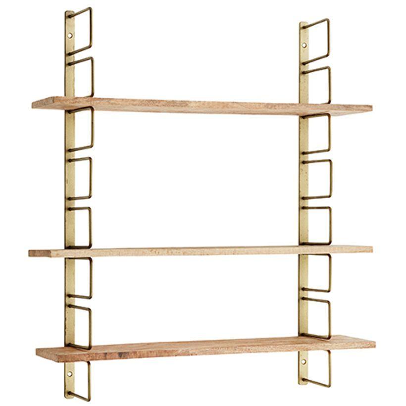 etagere murale modulable en metal et 3 planches en bois madam stoltz