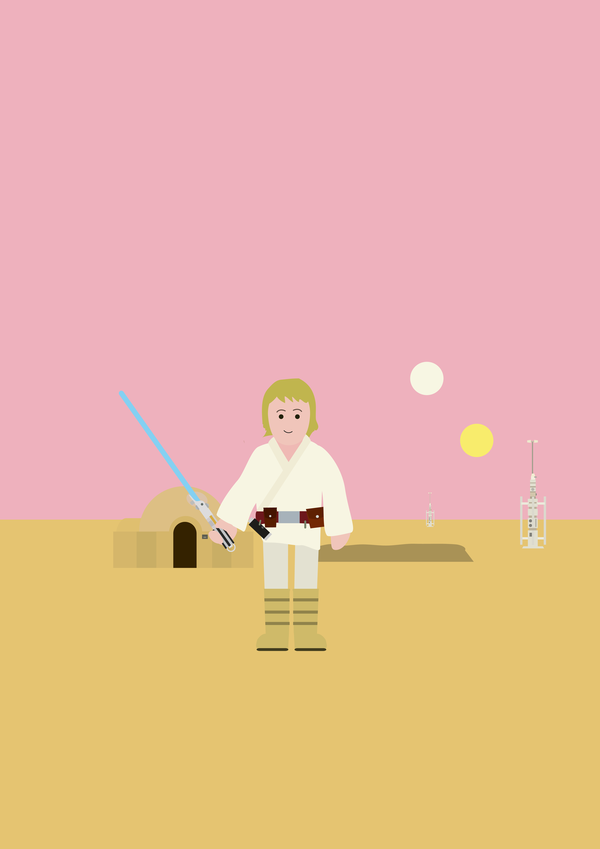 Luke Skywalker   Simple History style