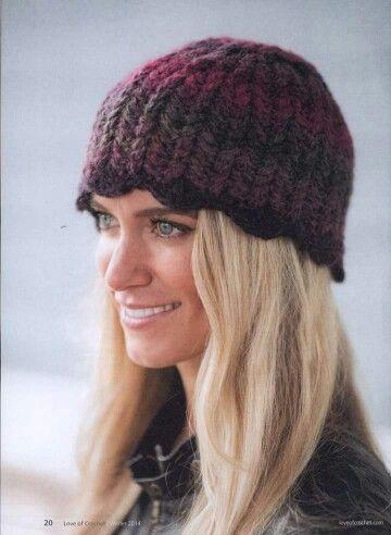 Gorro dama | Gorros para Damas niñas y adultas a Crochet ...