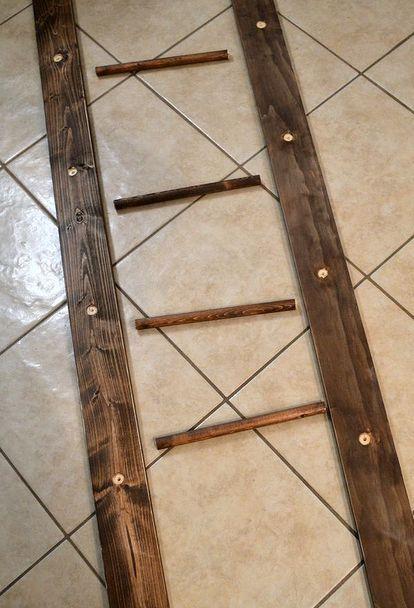 Repurpose Hanging Pot Rack : repurpose, hanging, Ladder, Ladder,, Hanging,