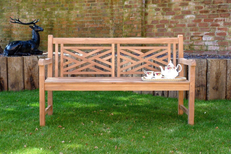Remarkable Oxford Teak Garden Bench 3 Seater 15M Sloane Sons In Teak Lamtechconsult Wood Chair Design Ideas Lamtechconsultcom