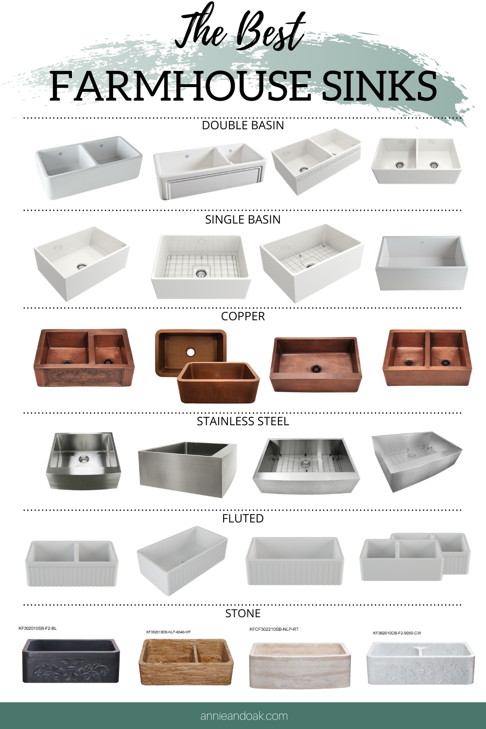 Best Farmhouse Sinks By Annie Oak Shop Our Selection Of The Best