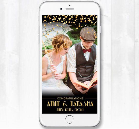 Gatsby Wedding Snapchat Geofilter Vintage Wedding Geofilter, Custom - copy blueprint events snapchat