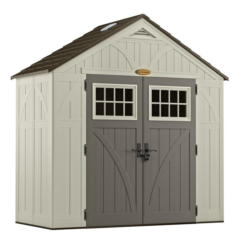 Outdoor Vanilla Plastic Storage Shed Plastic Storage Sheds Suncast Sheds Outdoor Storage Sheds