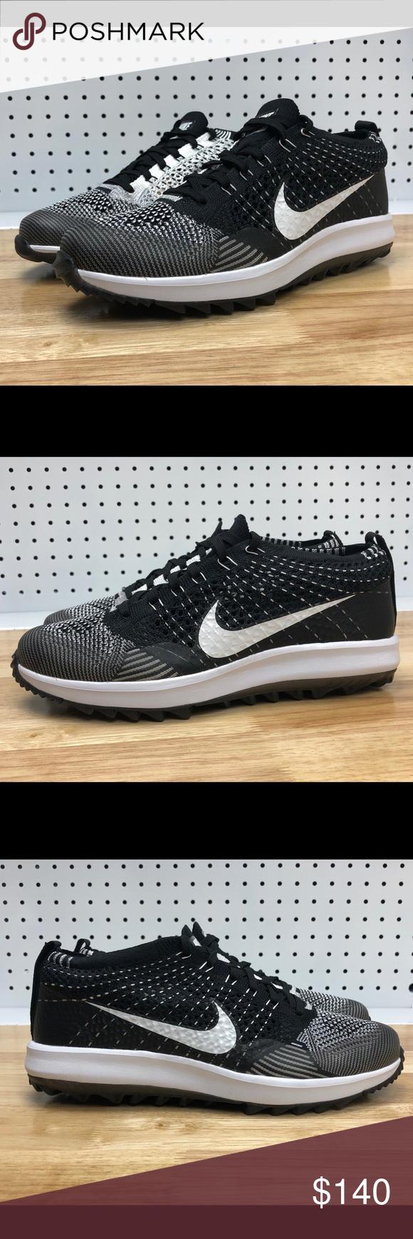 d4853253d4d68 Nike Flyknit Racer G Golf Shoes Oreo White Zoom Nike Flyknit Racer G Golf  Shoes Oreo