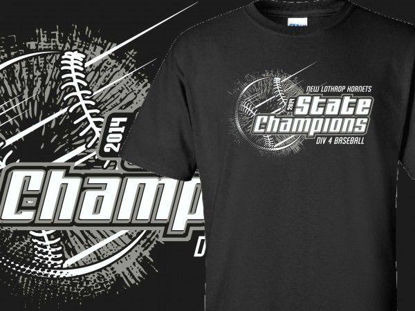 94a99dadce96 New Lathrop Hornets State Champions | Baseball | Custom screen ...