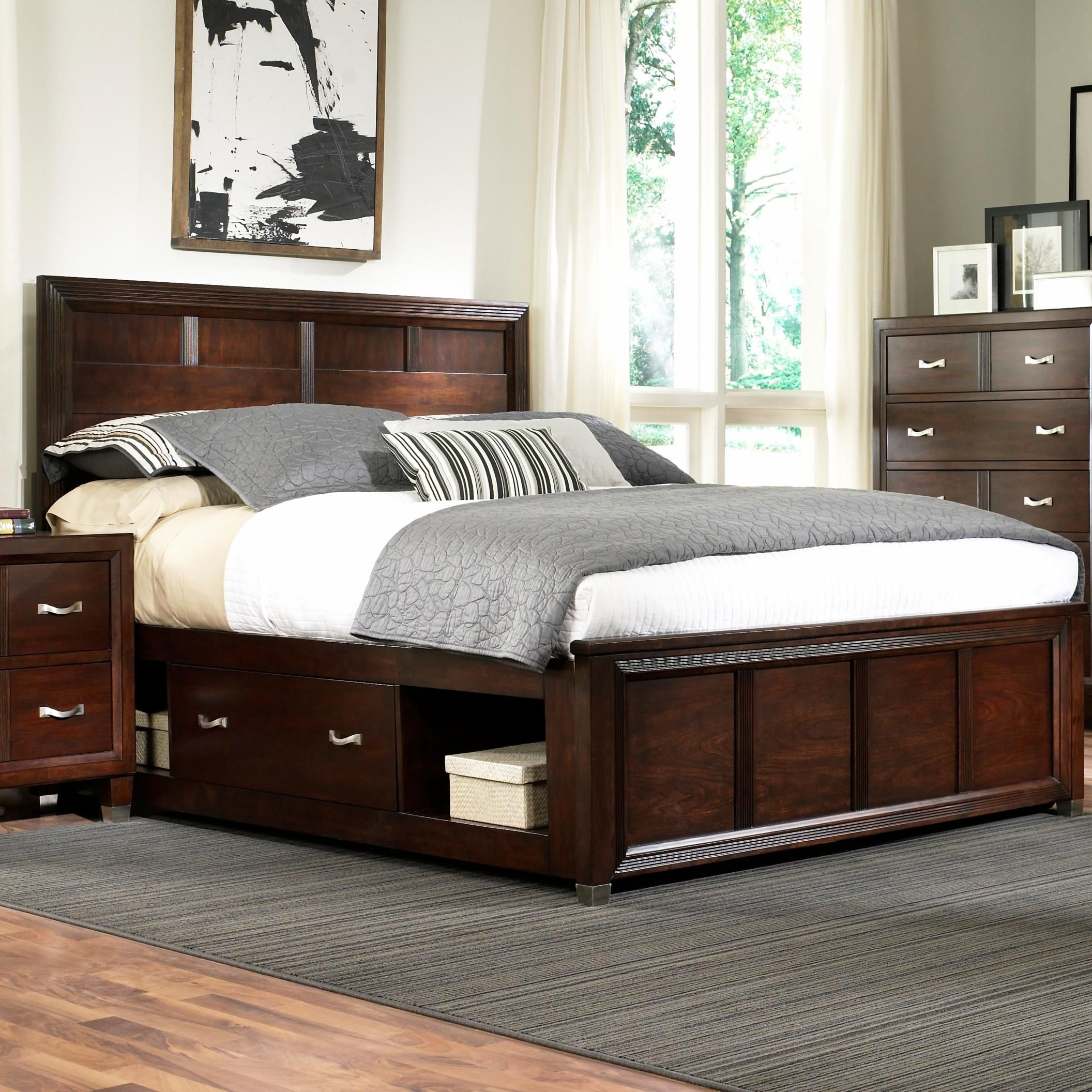 eastlake 2 queen captain 39 s bed with single storage side rail by broyhill furniture becker. Black Bedroom Furniture Sets. Home Design Ideas