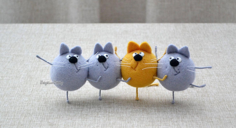 Игла войлочные кошка кошки Танцы иглы войлочные на