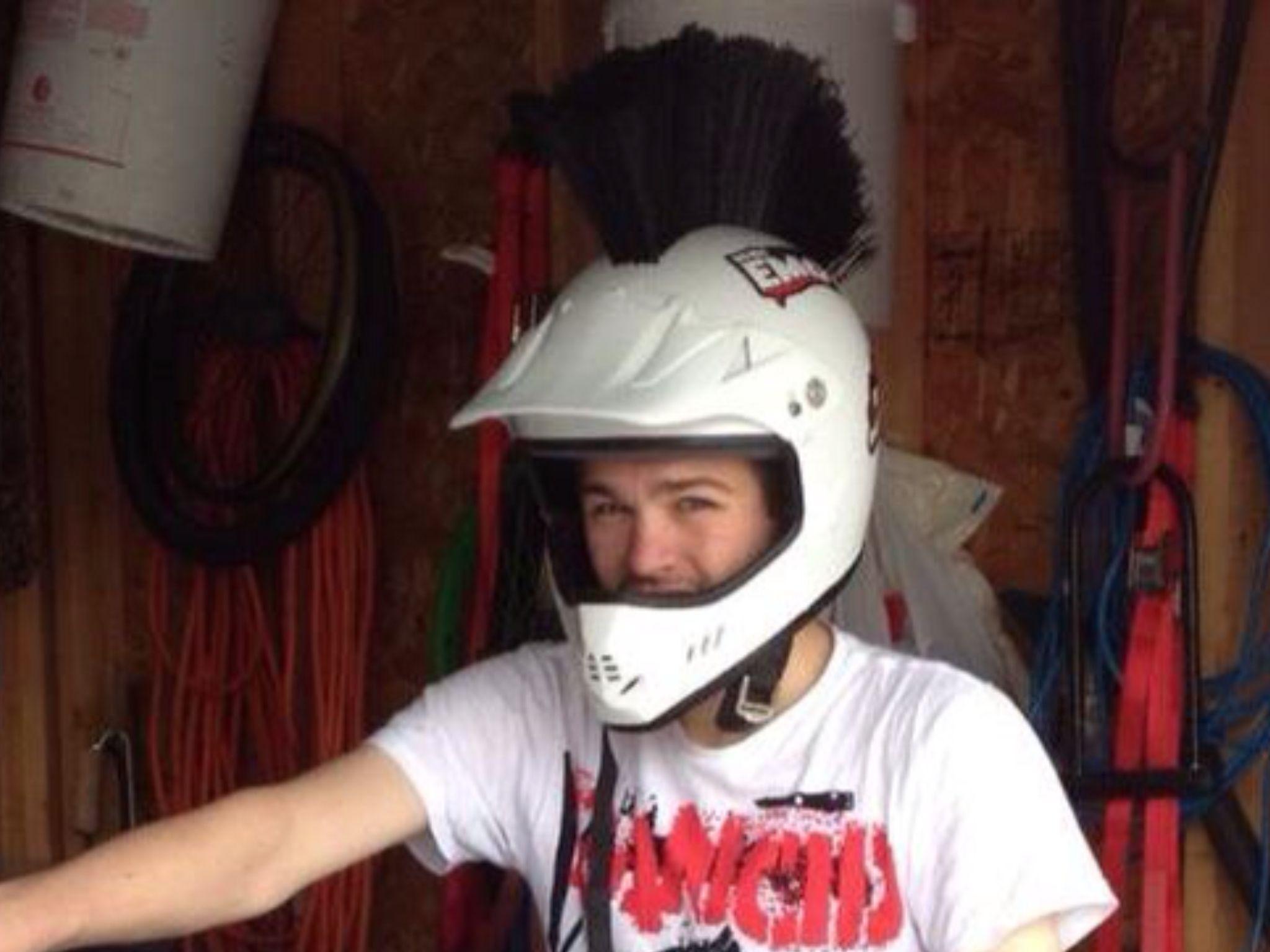 Cool diys mohawk helmet motorcycles pinterest mohawks diys