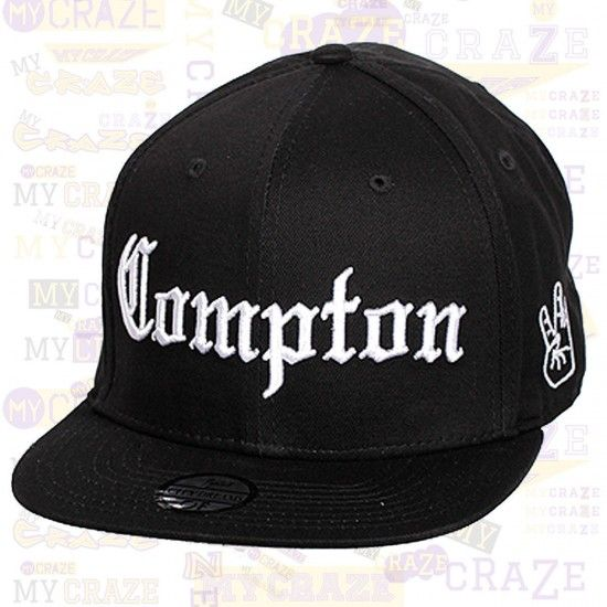 99ff55a8dae COMPTON Rap Hip Hop Black Snapback Hat Cap West Side Embroidery TOPCUL –  MyCraze
