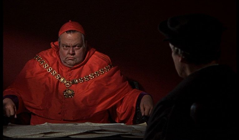 Orson Welles and Paul Scofield in A Man for All Seasons (1966)