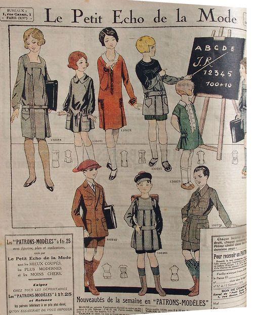 Le Petit Echo De La Mode Gives Us 1926 Children S Wear Vintage Costumes Retro Kids Vintage Sewing Patterns