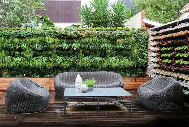moderne sitzplätze im garten mit rattan-sitzgruppe gestalten, Garten und bauen