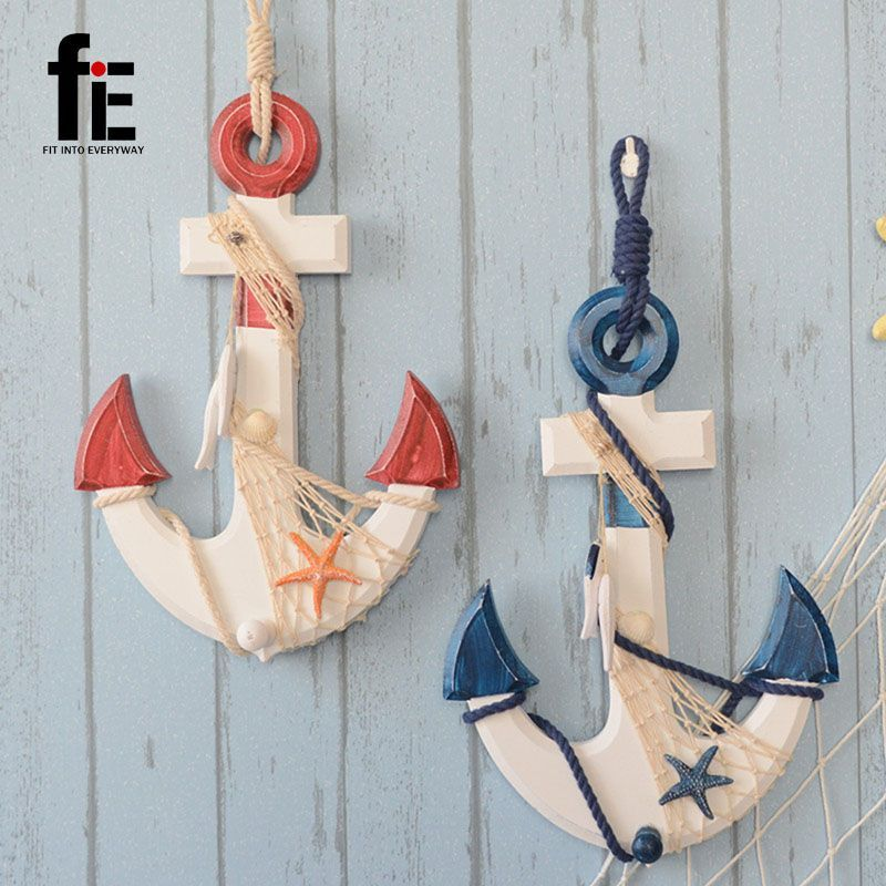 Wooden Crafts Home Anchor Pendant Wooden Anchor Sea Decoration Nautical Party Decorations Anchor Wood Anchor Decor Wooden Anchor Decor Sea Decor