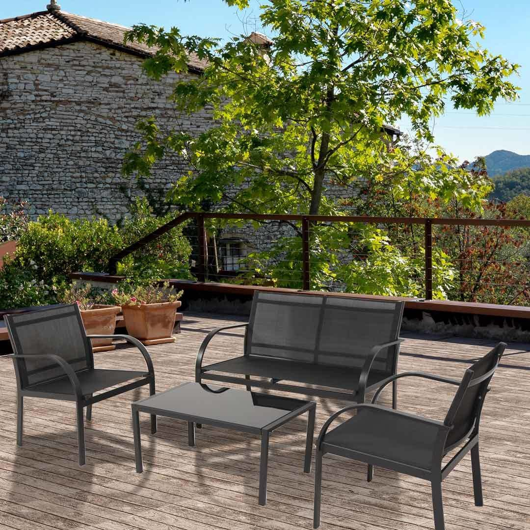 Doral Designs Canberra 4 Piece Outdoor Furniture Set Ideal For Patios And  Decks! This Stylish