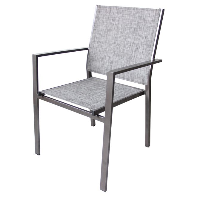 Add modern style to your patio décor with this Uberhaus Stacking Patio Chair. This patio chair features a linear design with straight armrests for a .  sc 1 st  Pinterest : chaise patio - Sectionals, Sofas & Couches