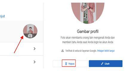 Cara hapus Foto Profil Akun Google Lewat Laptop Atau Pc
