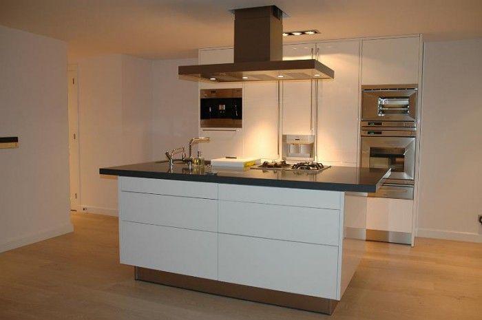 kookeiland met grijs werkblad - aanbouw en keuken | pinterest, Deco ideeën