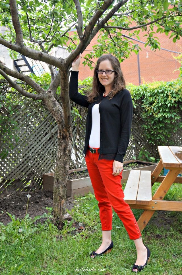 Red, black, & white is my favorite color combination! This is a quick and easy outfit featuring petite clothing from @jcpenney and @LOFT