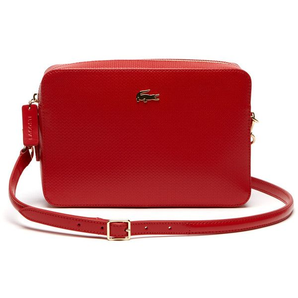 Lacoste Women S Chantaco Leather Crossover Bag Square Format 205 Liked On Polyvore Featuring Bags Handbags Shoulder Purses