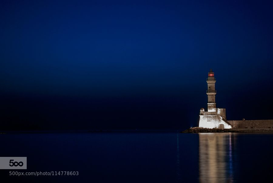 The Chania Lighthouse by NeptunesAperture. Please Like http://fb.me/go4photos and Follow @go4fotos Thank You. :-)