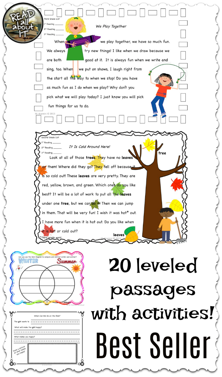 Sight word fluency passages leveled passagesvol dolch sight